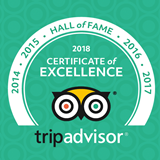 Trip Advisor - Certificate of Excellence Hall of Fame 2018