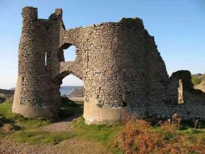 The Gower : Pennard Castle