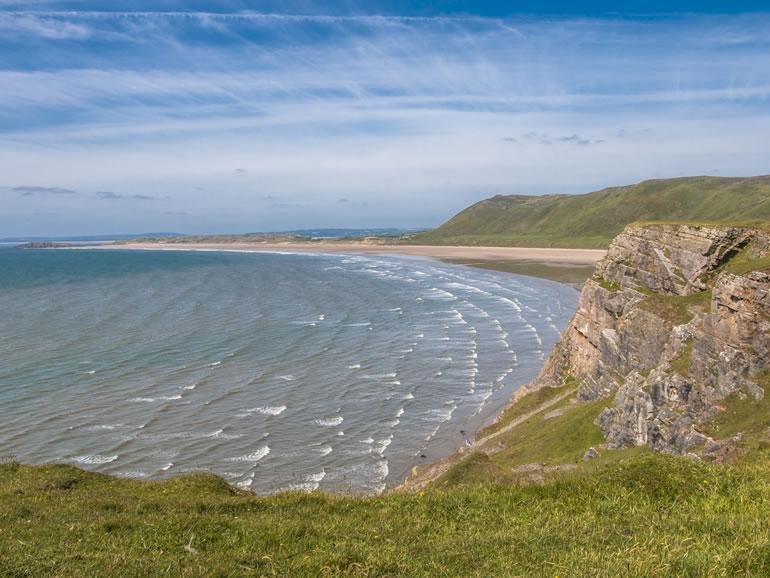 Gower Beaches : Rhossili Bay